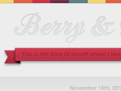 Tumblr Theme tumblr theme ribbon banner red white texture blog header