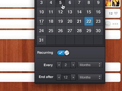 Wunderkit recurring tasks wunderkit 6wunderkinder ui tasks calendar recurring