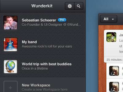 Wunderkit workspaces wunderkit 6wunderkinder workspace projects ui pro