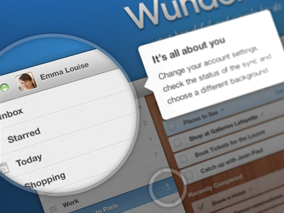 Welcome to Wunderlist 2 wunderlist 6wunderkinder tooltips welcome mac magnifier help intro app loupe