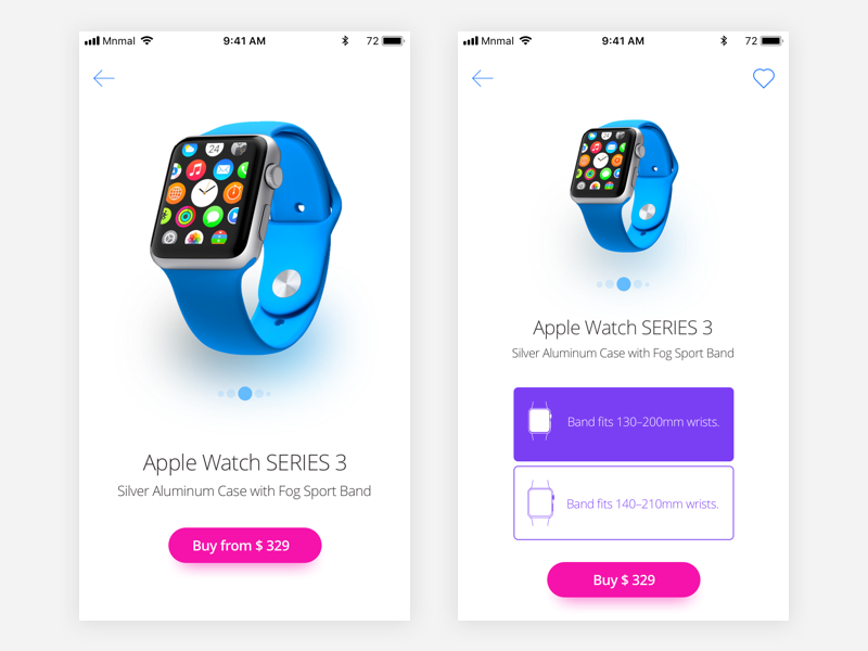 UI Product design watch apple page product ios ui