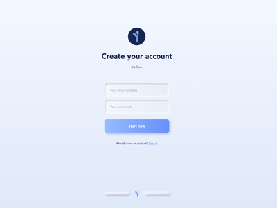 Neumorphism - Signup Page - Minimalist concept design minimalist signup page signup 2020 trend 2020 neumorphism