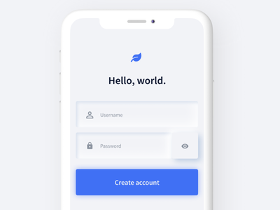 Neumorphism - Signup page for mobile 2020 trend trends mobile app design mobile app blue 2020 mobile signup page neumorphic neumorphism