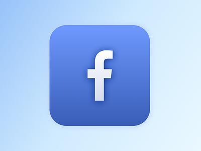 Facebook Icon - 3d exploration design 3d illustration 3d icon 3d icons icon facebook
