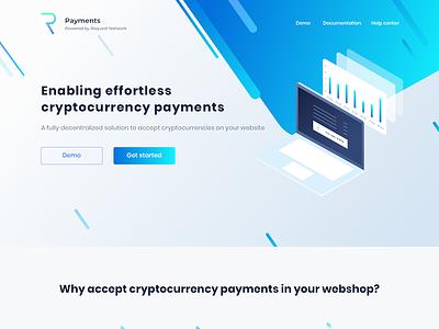 Landing Page - Request Network landing bitcoin crypto blockchain