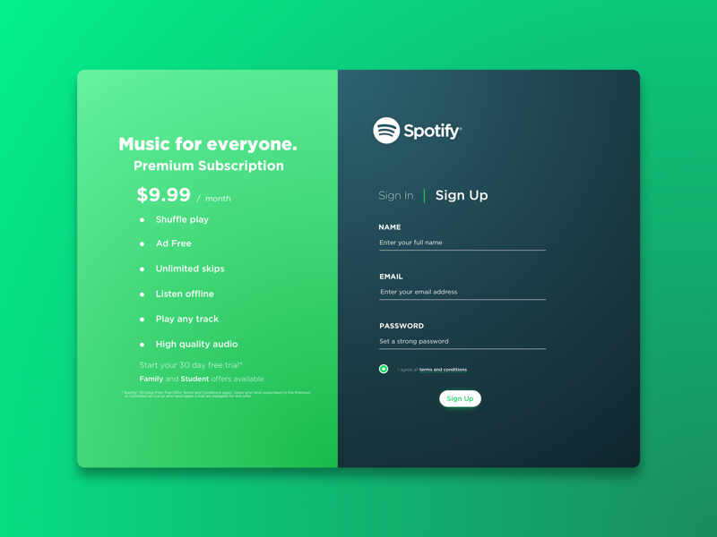 Spotify Sign Up