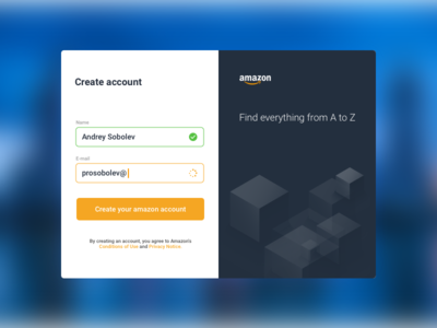 Amazon Sign Up