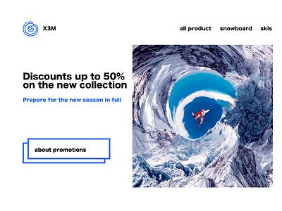 snow e-commerce extrime blue e-commerce skis snowboard snow web