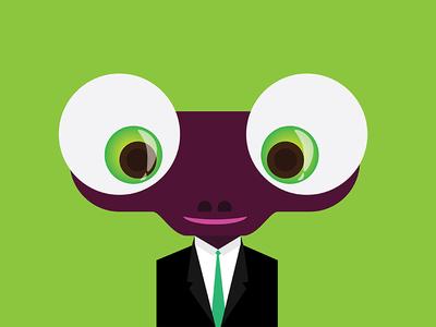 Chameleon in blazer