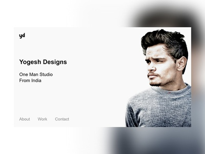Yogesh Designs Website UI