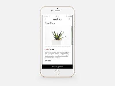 Plant Shopping App UI