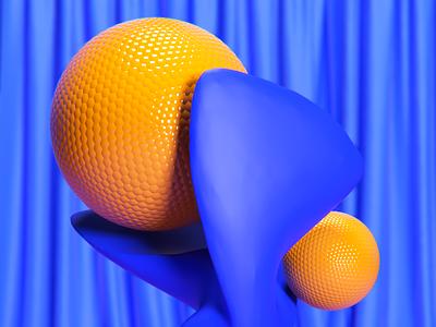 orange static designer contrast blue visual art sphere digitalart illustration lighting abstract motiondesigner alperdurmaz art animation 3d design