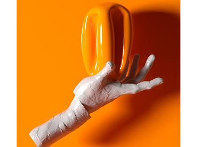 rodin hand oranges visualart rodin hand orange rendering digitalart illustration lighting motiondesigner alperdurmaz art animation 3d design