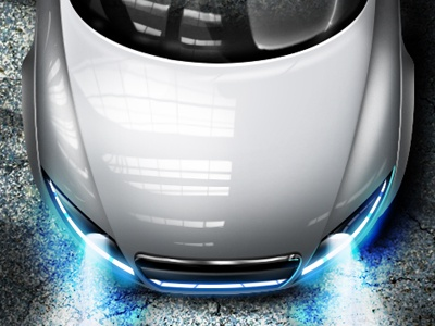 Car bency designs bency designs benjamin dandić photoshop realistic illustration 3d audi r8 shine lights