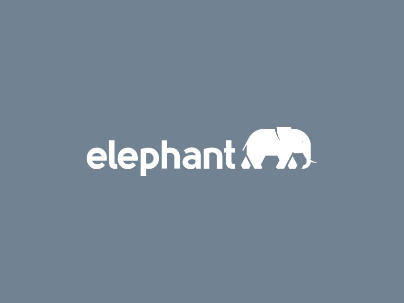 936c69782fce Elephant Logo elephant simple icon logo
