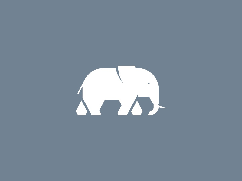 b4f9fa3189f4 Elephant symbol elephant simple icon logo angles