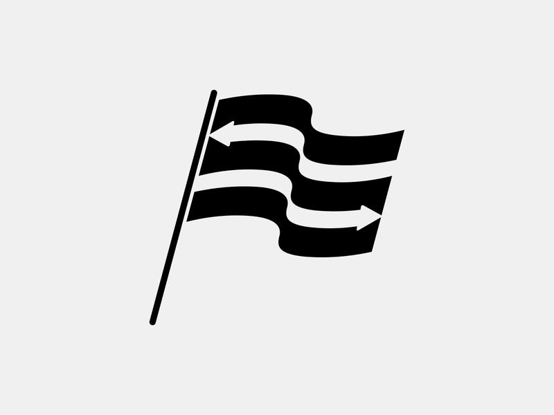 Transfer Flag football icon football logo football club football player waving flag flat black illustration stripes monogram football icon waving