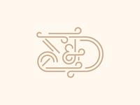 Σ & Δ Wedding typography