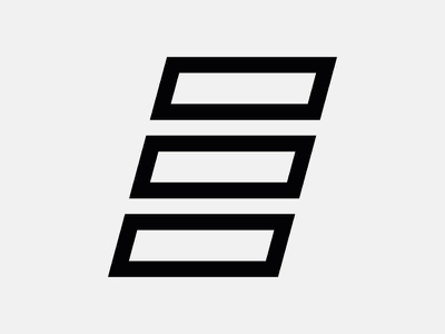 Letter E lettering branding icon logo vector typography type form letter coffee espresso