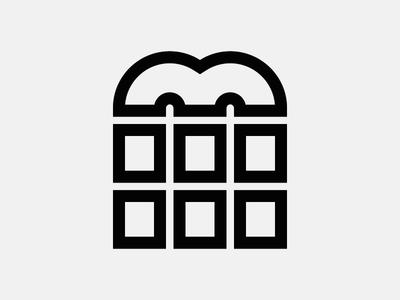 Letter M bar chocolate vector monogram logo line lettering icon geometry espresso coffee alphabet