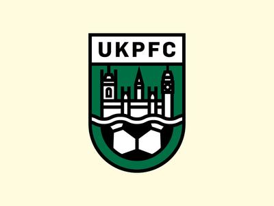 UK Parliament FC Crest badge emblem line stroke green ball river big ben uk england soccer football