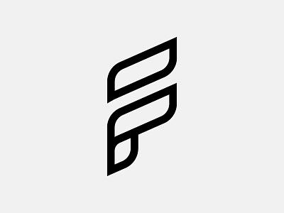 Letter F outline fruits nature leaf typography lettering vector logo symbol icon modern letter