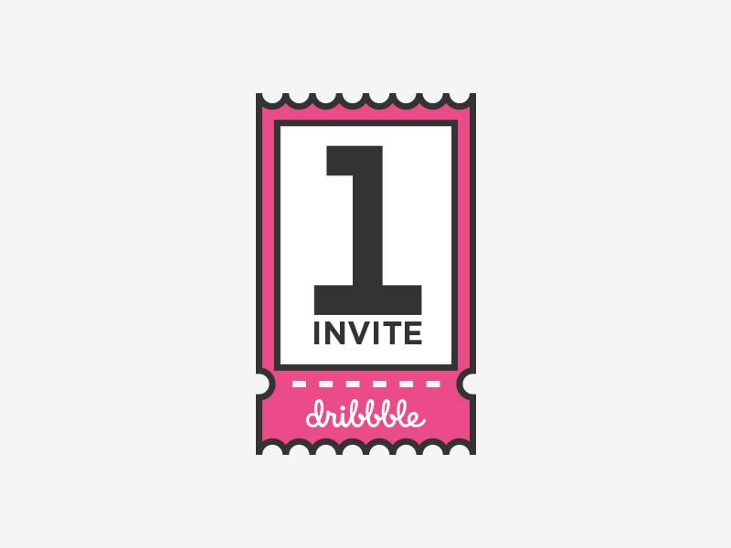 Dribbble Invite available best shot work purple dribbble designer draft illustration number ticket invite vector