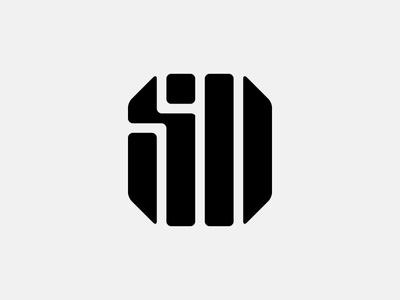 SD Logo badge letter soccer vector icon symbol geometry stripe black typography lettering monogram football