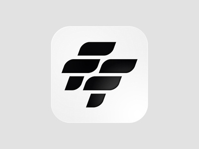FF Football App Icon modernism ios iphone ios app icon grid ui icon branding black and white lines typography lettering monogram icon app logo soccer app