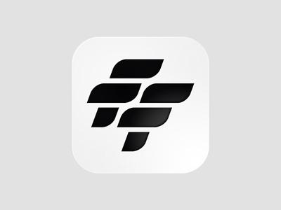 FF Football App Icon modernism ios iphone ios app icon grid ui icon branding black and white lines typography lettering monogram icon app logo soccer app