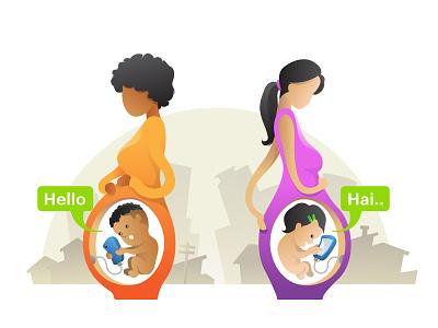 Generation Z joke ui flat header illustration city modern generationz