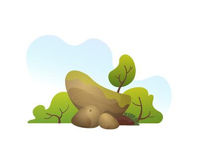 The Convex Stone Composition illustration vector landscape tropical nature stone