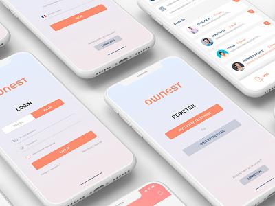 Ownest, the perfect app for SupplyChain ios supplyapp mockups app design uidesign uiux app desing ios app