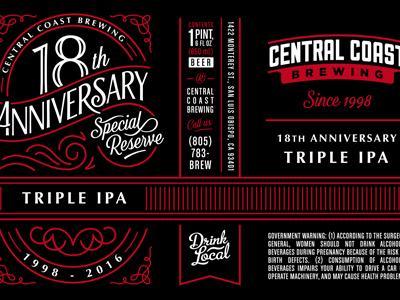 Anniversary Wrap hand-type anniversary beer screenprint