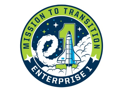 Mission to Transition cloud-type illustration mission patch