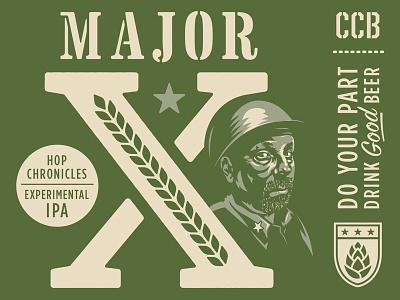 Major X illustration hops beer