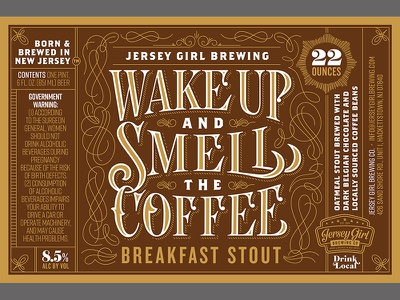 Wake Up Label label stout beer