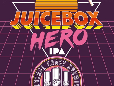 Juicebox Hero neon 80s haze juice ipa beer