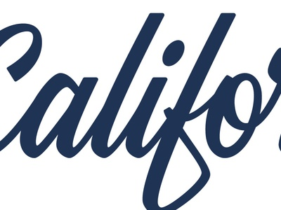 California Customs Script custom type handlettered script