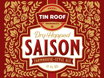 Dry Hopped Saison illustration typography beer
