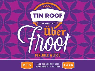 über froot berliner weisse typography beer