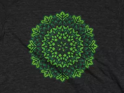Hop Kaleidoscope Cotton Bureau hops beer design tshirt