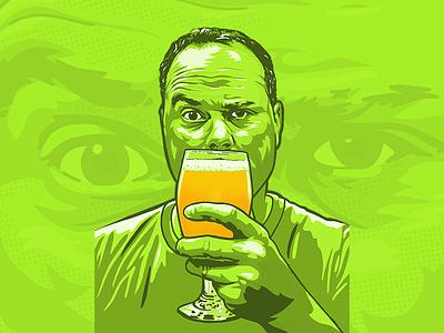 Self Portrait beer self portrait procreate
