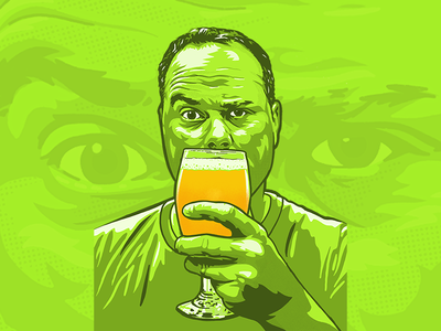 Self Portrait beer self portrait procreate