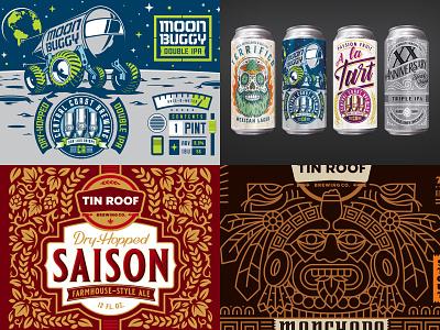 2018 Top Four hops label design beer