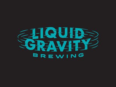 Liquid Gravity Brewing beer label lettering icons gravity logos type beer