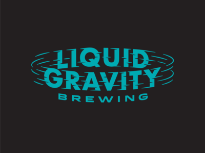 Liquid Gravity Brewing beer label lettering icons gravity logos type beer