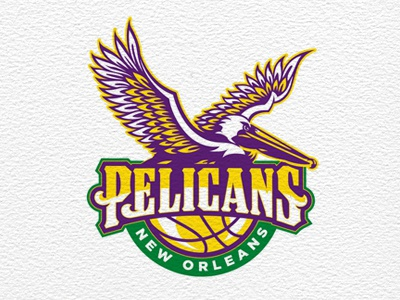 Pelicans - New Orleans Hornets Revised basketball professional pelicans type