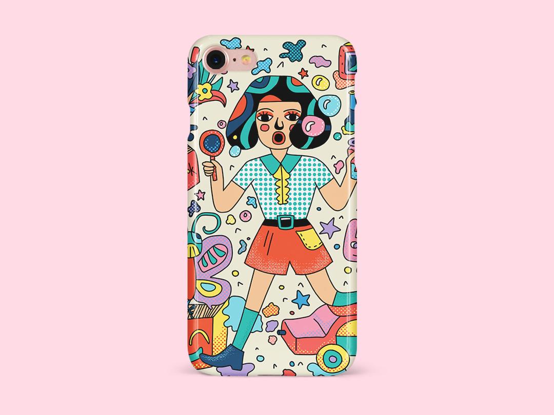 Colorful girl 插图