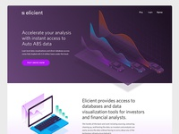 Elicient Landing page